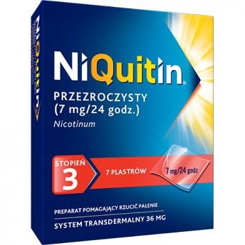 NIQUITIN 7 mg/24 h - 7 plast. -Lek na rzucenie palenia - obrazek 1 - Apteka internetowa Melissa