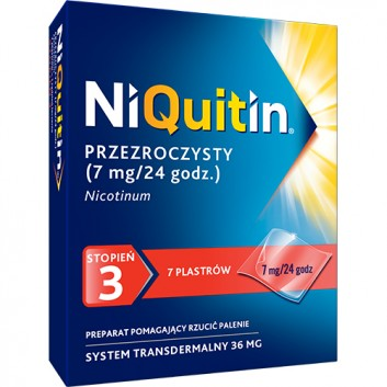 NIQUITIN 7 mg/24 h - 7 plast.  - obrazek 1 - Apteka internetowa Melissa