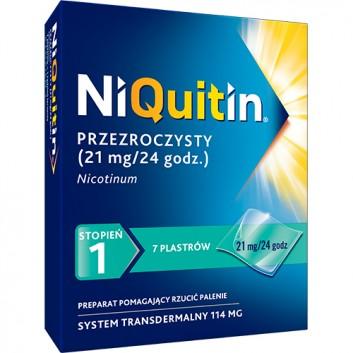 NIQUITIN 21 mg/24 h - 7 plast. - obrazek 1 - Apteka internetowa Melissa