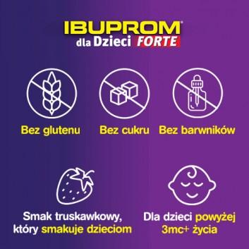 Ibuprom dla Dzieci Forte 200 mg/5 ml Zawiesina doustna - 150 ml - cena, opinie, ulotka - obrazek 2 - Apteka internetowa Melissa