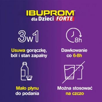 Ibuprom dla Dzieci Forte 200 mg/5 ml Zawiesina doustna - 150 ml - cena, opinie, ulotka - obrazek 3 - Apteka internetowa Melissa