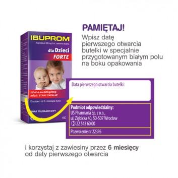 Ibuprom dla Dzieci Forte 200 mg/5 ml Zawiesina doustna - 150 ml - cena, opinie, ulotka - obrazek 4 - Apteka internetowa Melissa