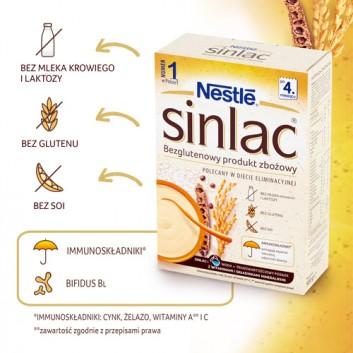 NESTLE SINLAC Bezglutenowy produkt zbożowy po 4 miesiącu - 500 g - cena, opinie, wskazania  - obrazek 2 - Apteka internetowa Melissa