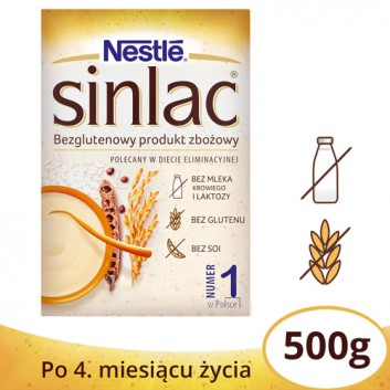 NESTLE SINLAC Bezglutenowy produkt zbożowy po 4 miesiącu - 500 g - cena, opinie, wskazania  - obrazek 1 - Apteka internetowa Melissa