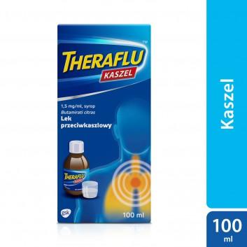 THERAFLU KASZEL 0,15% Syrop na suchy kaszel - 100 ml - obrazek 1 - Apteka internetowa Melissa