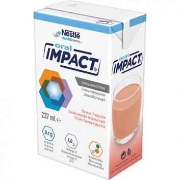 NESTLE IMPACT ORAL Smak owoców tropikalnych - 3x237 ml - preparat odżywczy w płynie - cena, opinie, wskazania - obrazek 2 - Apteka internetowa Melissa