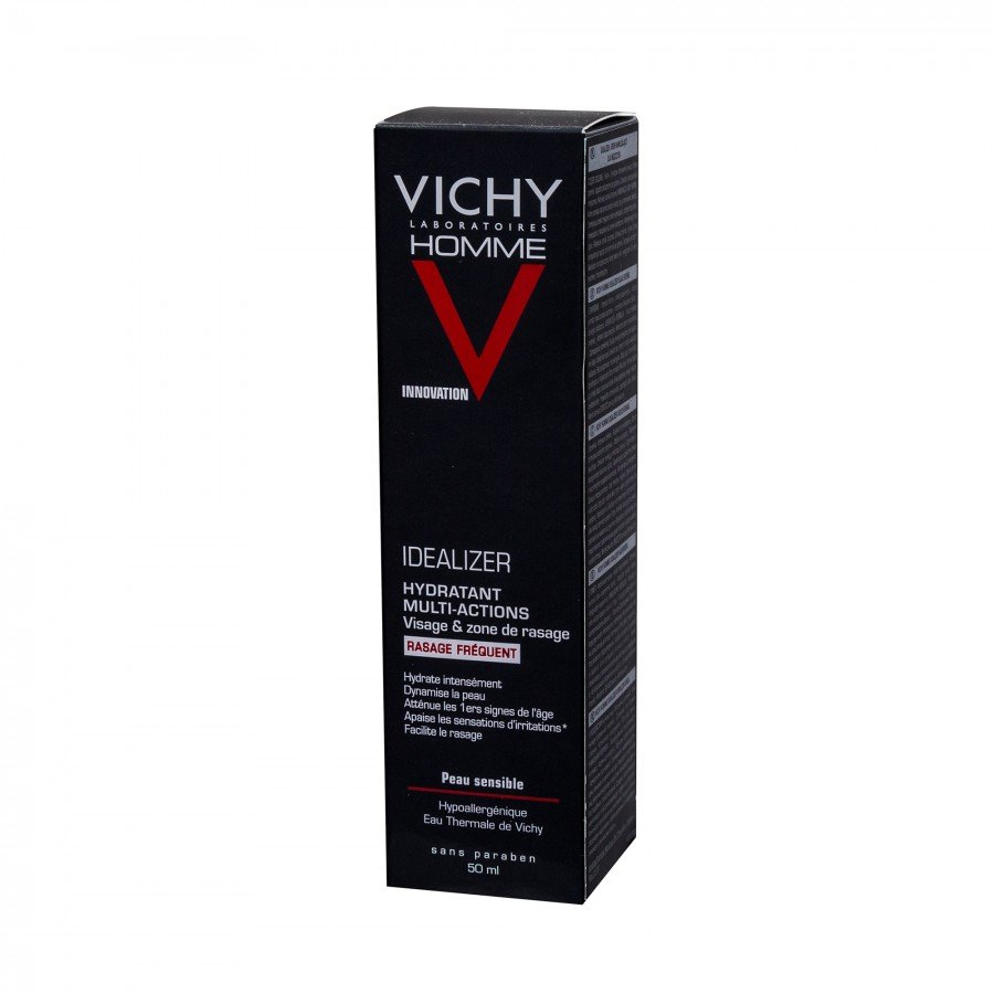 VICHY HOMME IDEALIZER Krem nawilżający dla mężczyzn częste golenie - 50 ml - Apteka internetowa Melissa