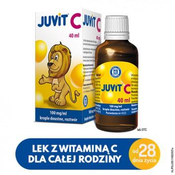 JUVIT C - 40 ml - cena, opinie, właściwości - obrazek 1 - Apteka internetowa Melissa