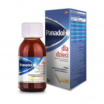 PANADOL DLA DZIECI Lek przeciwbólowy - 100 ml - obrazek 2 - Apteka internetowa Melissa