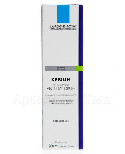 LA ROCHE-POSAY KERIUM Szampon przeciwłupieżowy na łupież tłusty - 200 ml - Drogeria Melissa
