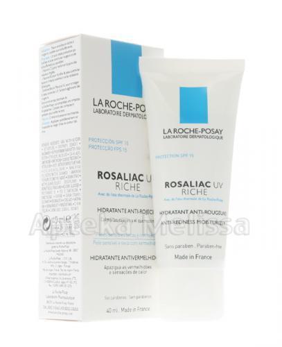 LA ROCHE-POSAY ROSALIAC UV RICHE Wzmacniający krem nawilżający ochrona SPF 15 - 40 ml - Drogeria Melissa