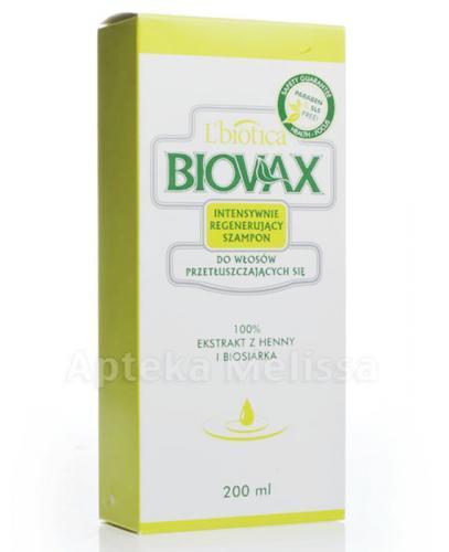 BIOVAX DO WŁOSÓW PRZETŁUSZCZAJĄCYCH SIĘ Intensywnie regenerujący szampon - 200 ml
