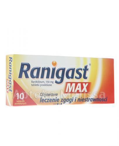 RANIGAST MAX 150 mg - 10 tabl. - Apteka internetowa Melissa