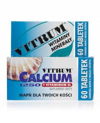 VITRUM Calcium 1250 + witamina D3 - 60 tabl.
