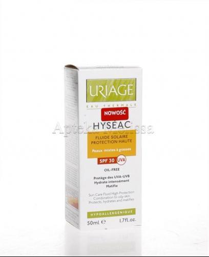 URIAGE HYSEAC Fluid przeciwsłoneczny dla skóry trądzikowej SPF 30 - 50 ml - Apteka internetowa Melissa