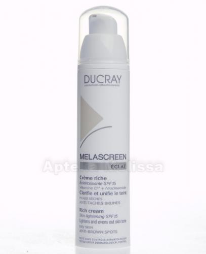 DUCRAY MELASCREEN SPF 15 Krem rozjaśniający riche - 40 ml  - Apteka internetowa Melissa