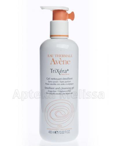 AVENE TriXera+ Selectiose Zmiękczający żel oczyszczający do skóry suchej, bardzo suchej i atopowej - 400 ml  - Apteka internetowa Melissa