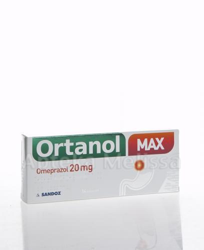 ORTANOL MAX Omeprazol 20 mg - 14 kaps. - Lek na zgagę - cena, opinie, wskazania - Apteka internetowa Melissa