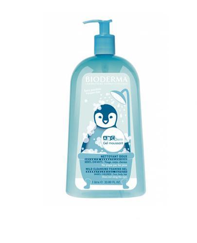 BIODERMA ABCDerm Łagodny żel myjący dla dzieci i niemowląt - 1000 ml