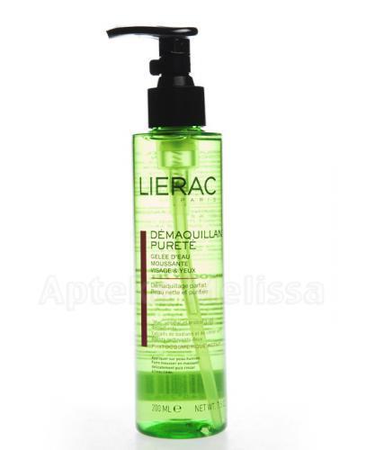 LIERAC DEMAQUILLANT PURETE Wodny żel oczyszczający twarz i oczy - 200 ml
