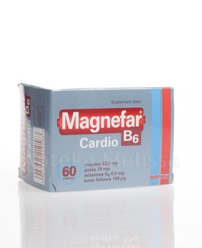 MAGNEFAR B6 CARDIO - 60 tabl. - Apteka internetowa Melissa