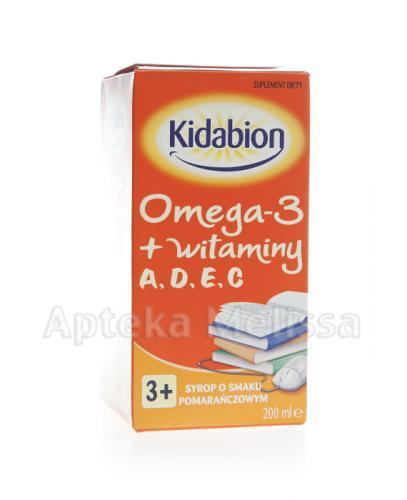 KIDABION Omega-3 Syrop o smaku pomarańczowym - 200 ml - Apteka internetowa Melissa