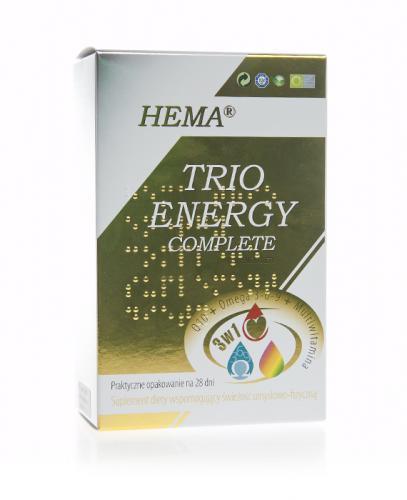 TRIO ENERGY COMPLETE HEMA Q10 + OMEGA 3-6-9 + MULTIWITAMINA - kuracja 28 dni - Apteka internetowa Melissa