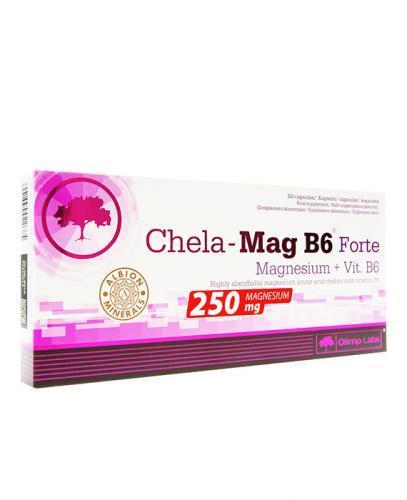 OLIMP CHELA MAG B6 FORTE - 60 kaps. Suplement z magnezem - opinie, stosowanie, ulotka - Drogeria Melissa