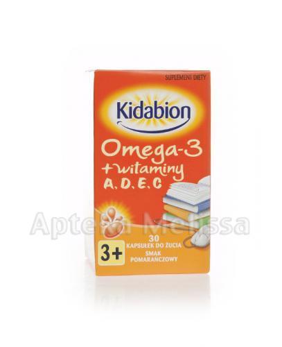 KIDABION Omega-3 o smaku pomarańczowym - 30 kaps. - Apteka internetowa Melissa