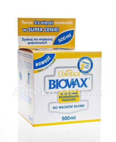 BIOVAX DO WŁOSÓW BLOND Intensywnie regenerująca maseczka - 500 ml - Apteka internetowa Melissa