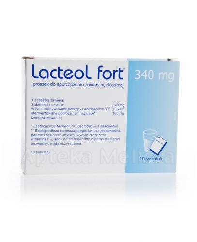 LACTEOL FORT 340 mg Proszek do przygotowania roztworu doustnego - 10 sasz.  - Apteka internetowa Melissa