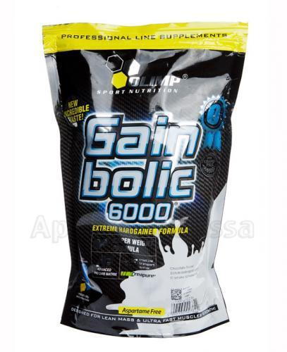 OLIMP GAIN BOLIC 6000 O smaku czekoladowym - 1000 g - Apteka internetowa Melissa