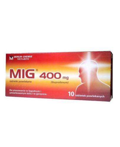 MIG 400 mg - ibuprofen - 10 tabl. - Apteka internetowa Melissa