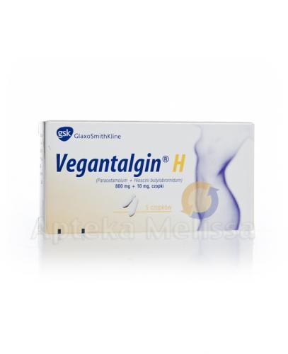 VEGANTALGIN Czopki 800 mg + 10 mg  - Apteka internetowa Melissa