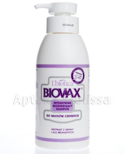 BIOVAX DO WŁOSÓW CIEMNYCH Intensywnie regenerujący szampon - 400 ml - Apteka internetowa Melissa