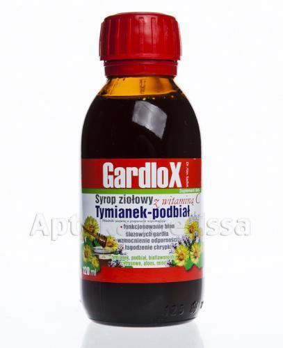 GARDLOX Syrop ziołowy z witaminą C tymianek-podbiał plus - 120 ml - Apteka internetowa Melissa