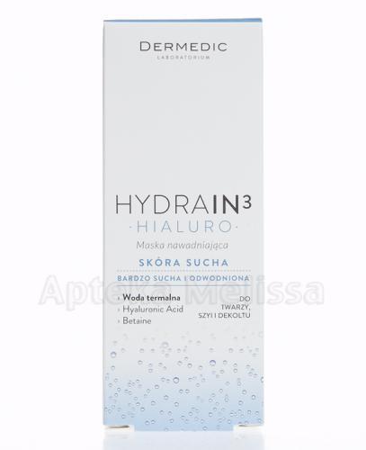 DERMEDIC HYDRAIN 3 HIALURO Maska nawadniająca - 50 ml - Apteka internetowa Melissa