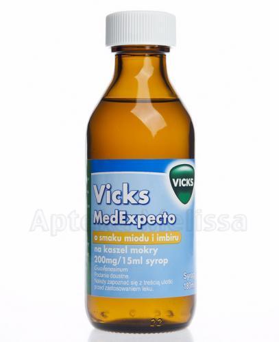 VICKS MEDEXPECTO Syrop o smaku miodu i imbiru na kaszel mokry - 180 ml - Apteka internetowa Melissa