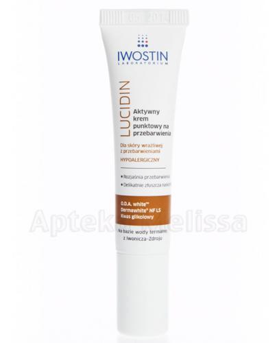 IWOSTIN LUCIDIN Aktywny krem punktowy na przebarwienia - 15 ml - Apteka internetowa Melissa
