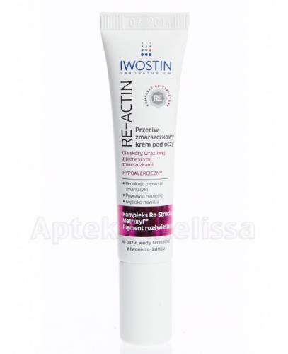 IWOSTIN RE-ACTIN Przeciwzmarszczkowy krem pod oczy - 15 ml  - Apteka internetowa Melissa