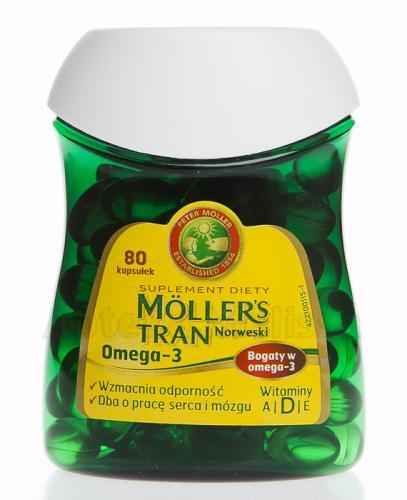 MOLLER'S - Tran norweski Omega-3 - 80kaps - Apteka internetowa Melissa