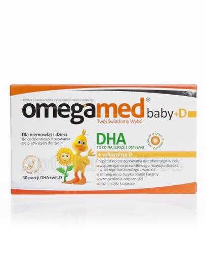 OMEGAMED Baby DHA + Wit D Dla niemowląt i dzieci - 30 kaps.
