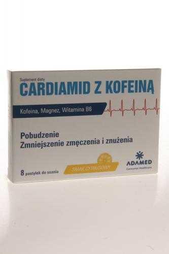 CARDIAMID Z KOFEINĄ Smak cytrusowy - 8 past.