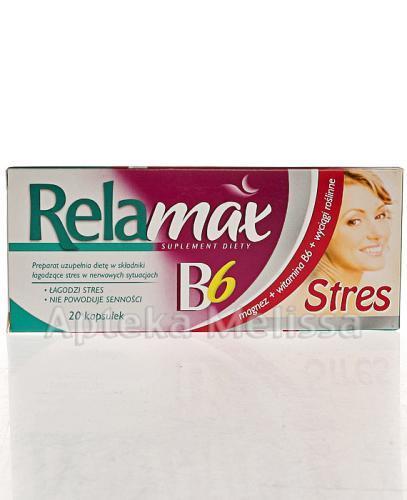 RELAMAX B6 Stres - 20 kaps.  - Apteka internetowa Melissa