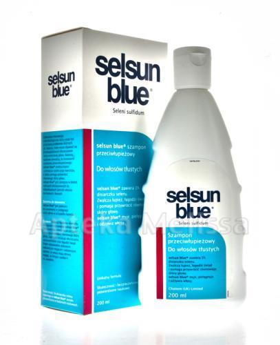 SELSUN BLUE Szampon Przeciwłupieżowy do włosów tłustych - 200 ml - Apteka internetowa Melissa