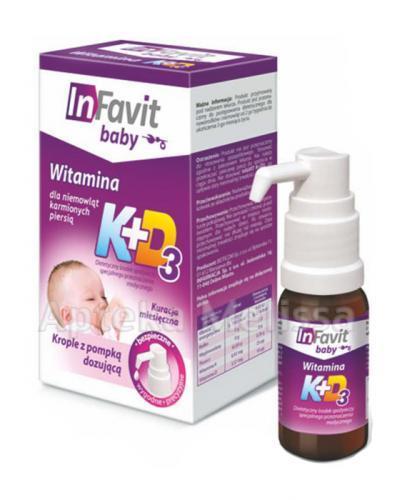 INFAVIT BABY Witamina K+D3 dla niemowląt karmionych piersią - 9 ml