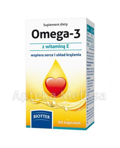 BIOTTER Omega 3 500 mg + witamina E - 60 kaps. - Apteka internetowa Melissa