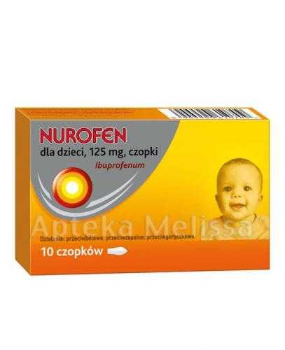 NUROFEN Dla Dzieci 125 mg - 10 czop.
