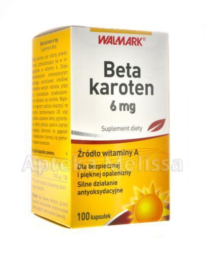 WALMARK BETA-KAROTEN 6 mg - 100 kaps. - Apteka internetowa Melissa