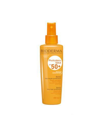 BIODERMA PHOTODERM MAX SPF50+/UVA 35 Spray ochronny do wszystkich rodzajów skóry - 200 ml - Apteka internetowa Melissa